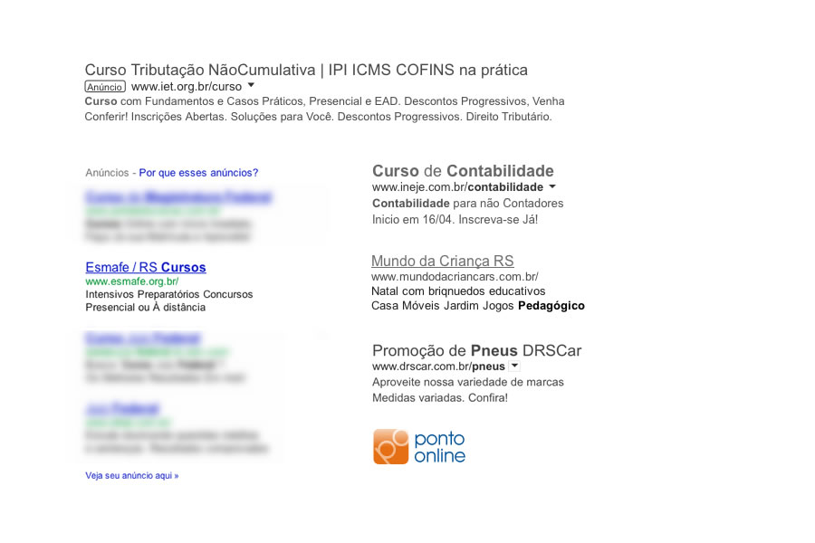 Links patrocinados no Google Ads